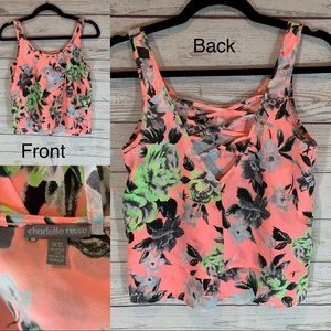 5 for $25 Charlotte Russe XS pink floral strap top